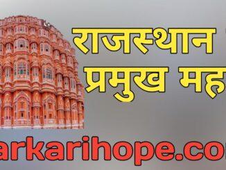 राजस्थान के प्रमुख महल