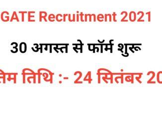 GATE Recruitment 2021