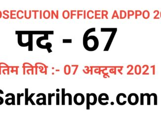 Chhattisgarh Assistant District Public Prosecution Officer ADPPO Online Form 2021
