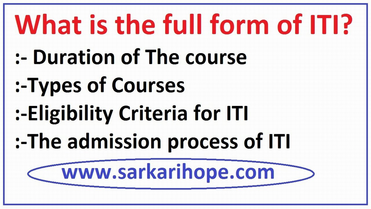 What is the full form of ITI?