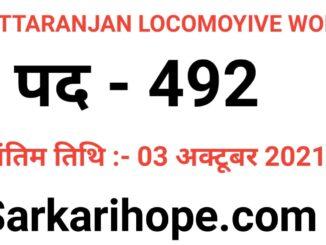 Chittaranjan Locomotive Works Act Apprentice Online Form 2021