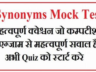 Synonys Mock Test