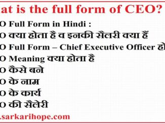What is the full form of CEO